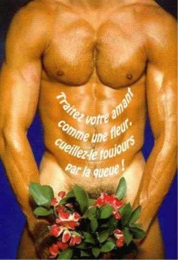 Фото голый мужик с цветами